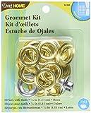 Dritz 44388 Grommet Kit with Stud Setter, Brass, 7/16-Inch, 10-Pack