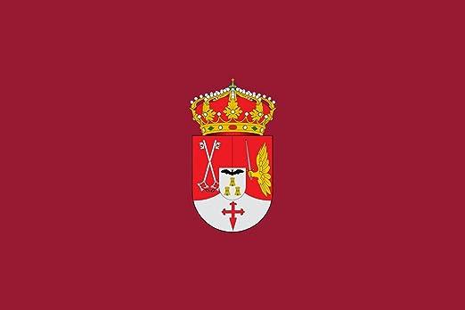 magFlags Bandera Large Provincia Albacete | Provincia de Albacete España De Color carmesí y Tiene el Escudo Provincial en el Centro | Bandera Paisaje | 1.35m² | 90x150cm: Amazon.es: Jardín