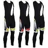 Didoo Nouveau Homme Collant À Bretelles De Cyclisme Hiver Thermal Rembourré Long Pantalon Cyclisme Pantalon - Jaune - Rouge - Vert
