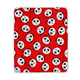 My Little Nest Warm Throw Blanket Smile Panda Red Lightweight MicrofiberSoft Blanket Everyday Use for Bed Couch Sofa 50'' x 60''