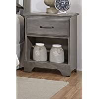 Carolina Furniture Works 532100 Night Stand with 1 Drawer, Vintage Gray