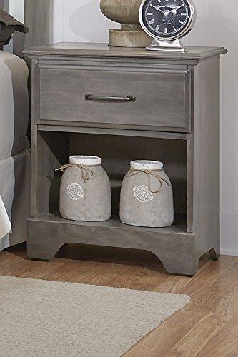 Carolina Furniture Works 532100 Night Stand with 1 Drawer, Vintage (Bedroom Vintage Nightstand)