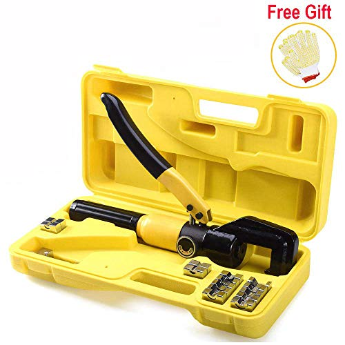 - Suteck Hydraulic Crimper 10 Tons Hydraulic Wire Battery Cable Lug Terminal Pliers Crimping Tool With 9 Pairs of Dies