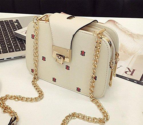 MEILI Bolsos de moda Hombro Messenger Bag Mobile Small Bag Chain Bag Small Bag Set Joker moda casual uno , meters of white meters of white