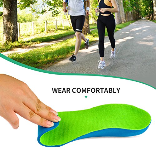OptiFeet High Arch Support Orthotic Shoe Insoles Cup Cushioned Inserts for Men Women Foot Development, Flat Foot Insoles for Flat Feet by OptiFeet (Image #3)