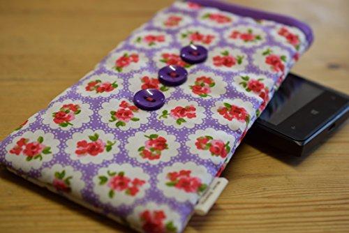Lila Rosen Print Apple iPhone 6Plus Socke/Case/Cover/Tasche