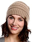 Tough Headwear Womens Cable Knit Beanie - Warm &...