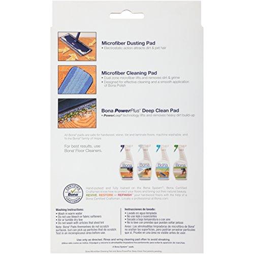 Bona 3-Piece Microfiber Pad Pack - 3