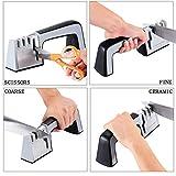 ForHe Diamond Steel Knife Sharpener, 4 in 1 Knife