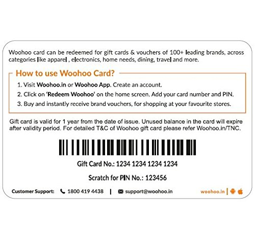 Gift Woohoo Amazon Cards Card in -rs 1000