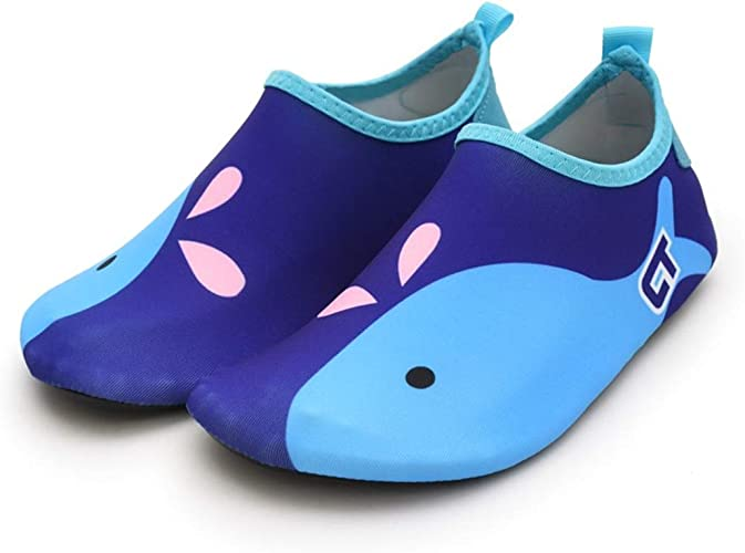 ENERCAKE Toddler Kids Swim Water Shoes Barefoot Aqua Socks Shoes for Boys Girls Quick Dry Non-Slip Beach Pool Surfing Yoga Sports Shoes