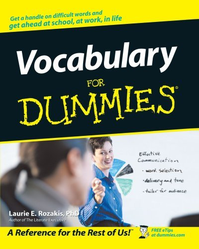 Vocabulary For Dummies (American English) by Rozakis, Laurie E. published by John Wiley & Sons (2001)