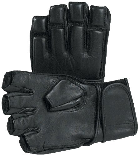 SPRI Fingerless Glove (Black, Medium)
