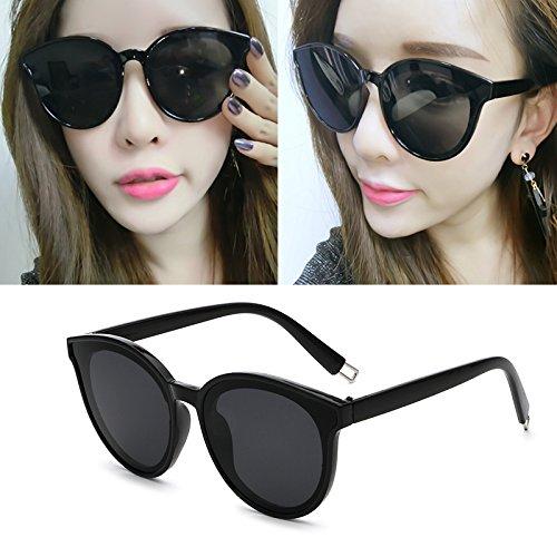 lunettes de soleil les pop stars lunettes nouveau cycle des lunettes de soleil mesdames élégant visage rond korean les yeuxboîte noire film bleu (sac) H0yKx