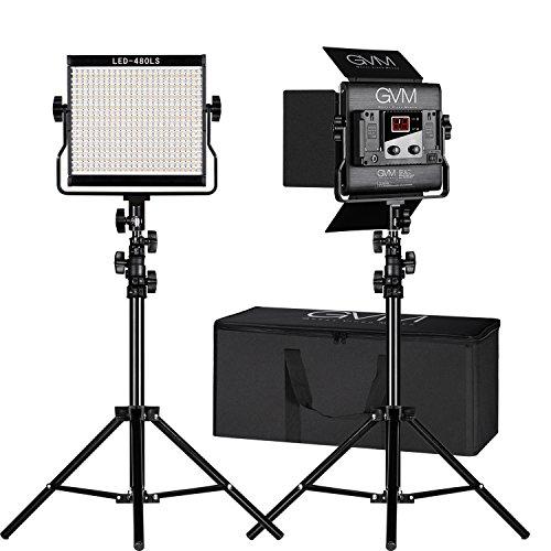 GVM 2 Pack Video Lighting Bi-color LED Video Light Variable