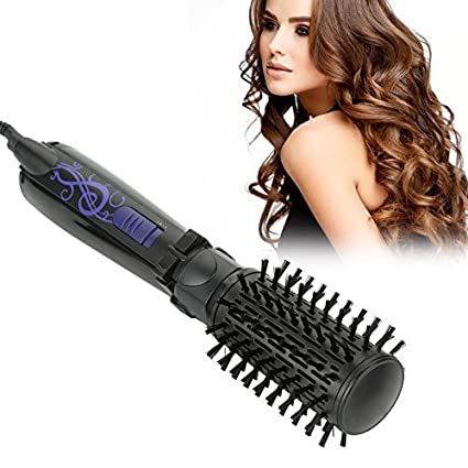 Rotating Hair Dryer Brush, 2 in 1 Anion Automatic Hair Blow Comb Curling Straightening Comb Massaging Brush(US Plug) Semme
