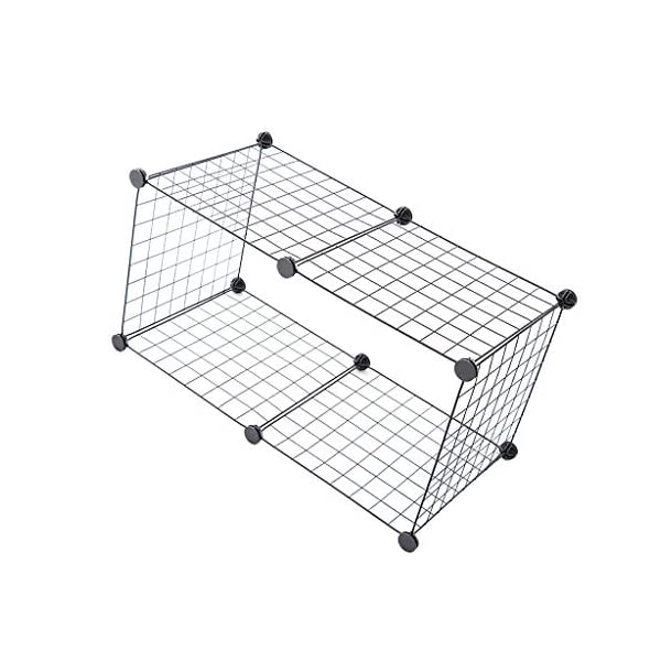 HOMYL Dog Pet Playpen Heavy Duty Metal Exercise Fence 6- Panel DIY Assemly 35x35cm (Black) Click on image for further info. 6