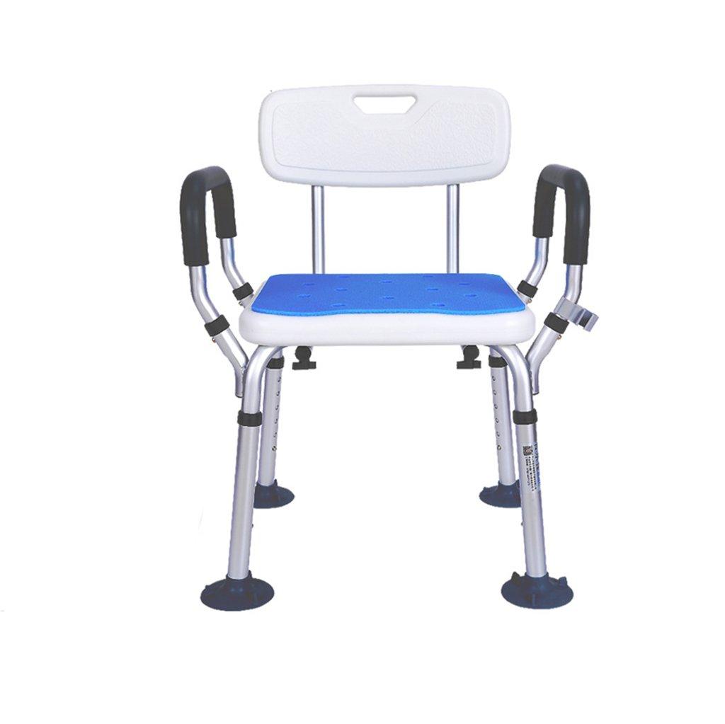 XUEPING 高齢者のバスルームのスツールアルミ高背バスチェアの椅子のシャワースツール妊婦の調節可能な高さスツールホワイト B07DCTQXYX