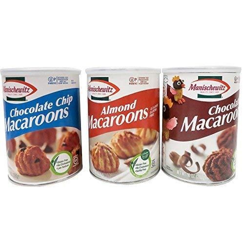 Manischewitz Macaroon Passover Gift Set - Chocolate, Almond & Chocolate Chip Seder Dessert Gluten-free (3 Canisters) ()
