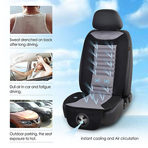SNAILAX Cooling Car Seat Cushion With Massage PadAir Conditioned Cover Fan For Truck Home And Office Use SL 252