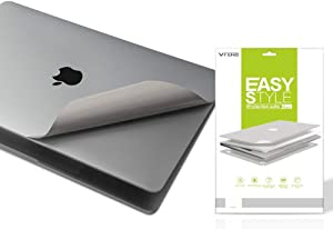 VFENG Premium 5-in-1 Full Body Skins Protective Decals for MacBook Pro 13 Inch With Touch Bar(A1706/1989/A2159,2016/2017/2018/2019+),Including High Clear Screen Protector--Gray