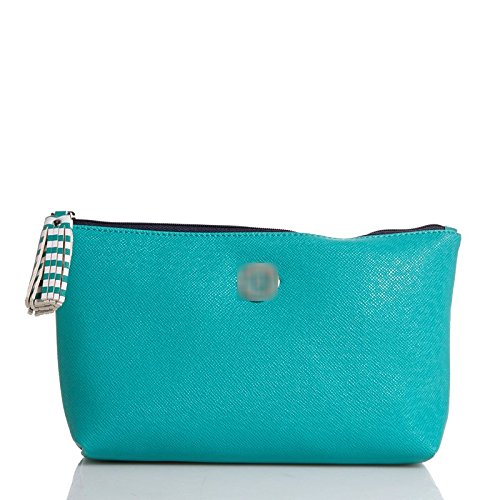 KENNETH COLE REACTION Cosmetic Organizer Makeup/Toiletry Bag ((Turquoise) Tassel Zipper Makeup/Cosmetic Bag)