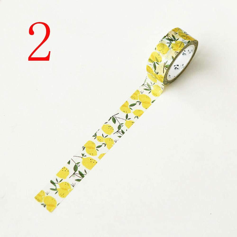 forone 3 Pcs Adhesive Decorative Stylish Scrapbook Sticker Fruit Style Washi Tape Sticky Paper