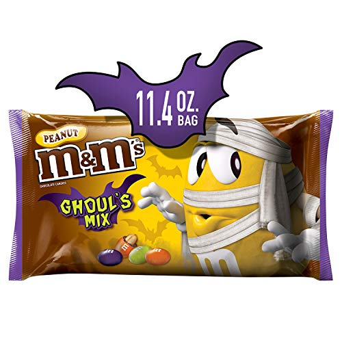 M&M'S Ghoul's Mix Peanut Chocolate Halloween Candy, 11.4-Ounce ()