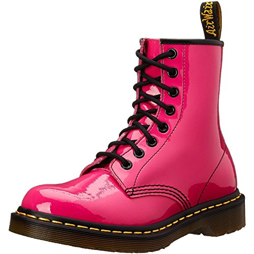 Dr. Martens 1460W 8-Eye - Hot Pink Patent Lamper Boot - Size: 7