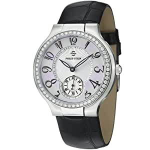 Philip Stein Signature Round Mother of Pearl Dial Diamond Watch 42D-FMOP-AB