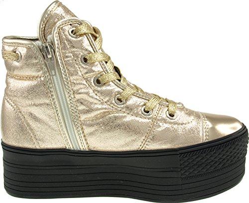 Maxstar  C50-020,  Damen Hohe Hausschuhe Gold