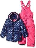 Pink Platinum Toddler Girls' Printed Super Snowsuit, Navy Heart, 3T