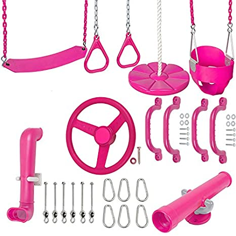 Amazon Com Swing Set Stuff Inc Ultimate Toddler Kit Pink With