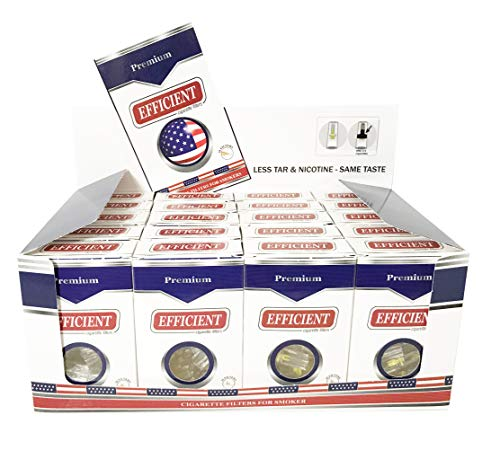 (EFFICIENT Cigarette Filters, Filter Tips For Cigarette Smokers 20 Packs (600 Filters))