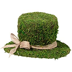 "Lillian Rose 8.5"" Moss Top Hat Decoration"