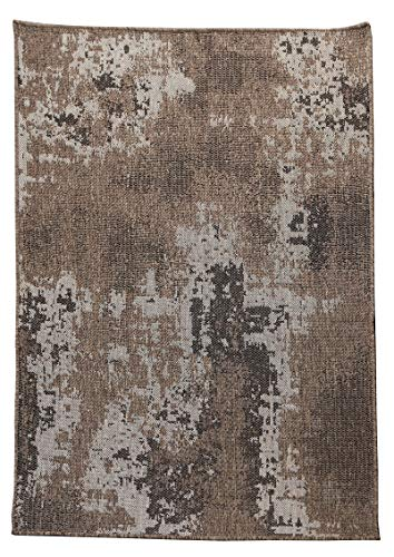 Furnish my Place Vintage Faded Design Brown, Indoor and Outdoor Area Rug, Easy to Clean, UV Protected and Fade Resistant