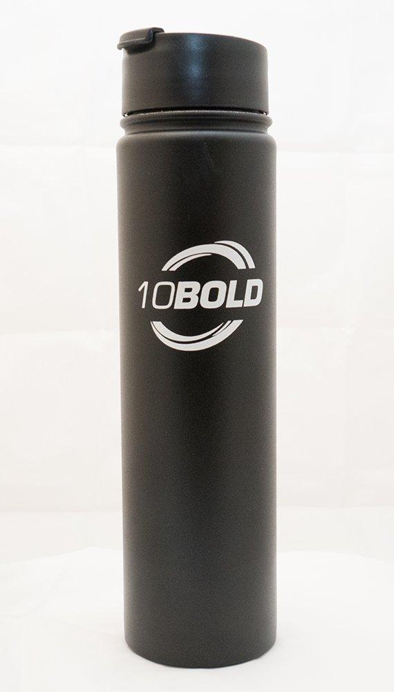 10bold 24oz二重壁真空断熱ステンレススチールスポーツウォーターボトル。 B077WDQYR1 ブラック