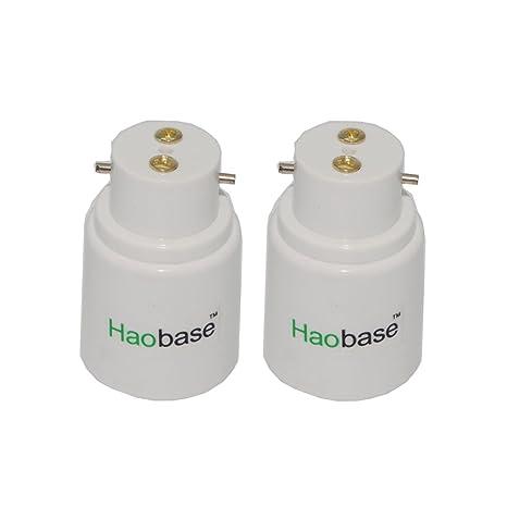 Haobase - Tapa de la lámpara, convertidor B22 a E27, portalámparas para bombillas LED