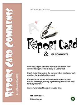 125 report card comments