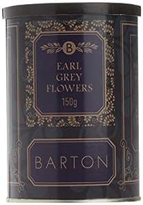 Barton Earl Grey Flowers - Hojas partidas de Té negro, 150 gr