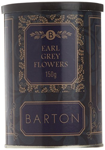 Barton Earl Grey Flowers - Hojas partidas de Te negro, 150 gr