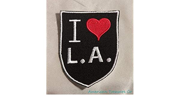 Los Angeles CA California State Patch Iron On USA Embroidered Retro I Love L.A
