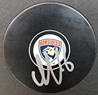 Autographed Aleksander Barkov Florida Panthers Hockey Puck