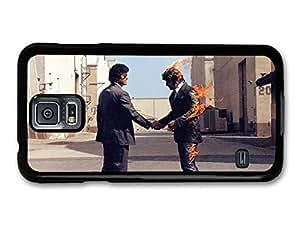 AMAF ? Accessories Pink Floyd Rock Band Album Art Man on Fire case for Samsung Galaxy S5