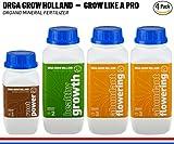weed plant food - Organic Nutrients For Marijuana Plants – Liquid Fertilizer For Vegetables, Fruit & Cannabis - Root Stimulator 16oz, Healthy Growth 32oz, Abundant Flowering 2x32oz - Growers Kit Orga Grow Holland