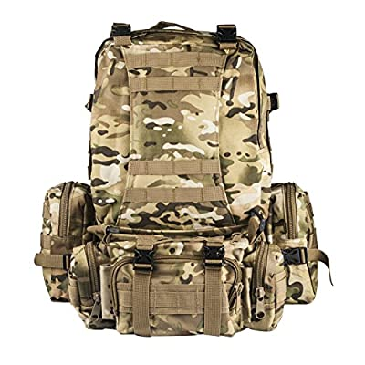 CVLIFE Outdoor 50L Military Rucksacks Tactical Backpack Assault Pack Combat Backpack Trekking Bag