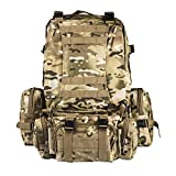 CVLIFE-Outdoor-Builtup-Military-Tactical-Backpack-Army-Rucksacks-3-Day-Assault-Pack-Combat-Molle-Backpack-Pouc