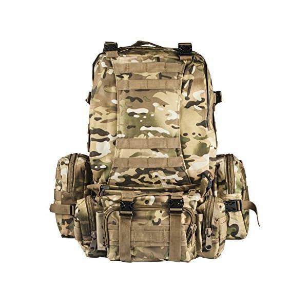 CVLIFE Outdoor 50L Military Rucksacks Tactical Backpack Assault Pack ... 647c56de9322a