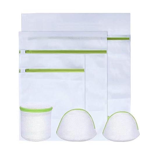 Kyg – Set de lavandería, 6 bolsas con cremallera para lavadora en ...