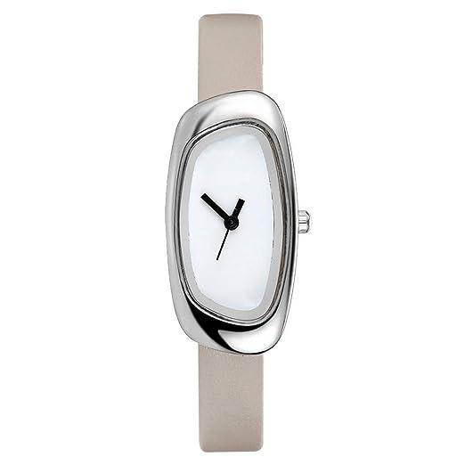 a0f1a62f11fa Estilo Coreano Innovador Reloj de Cuarzo Moda de Muy Buen Gusto Acero  Inoxidable Undercap IPG Estuche Revestido Banda de Cuero Reloj de Cuarzo  FD029  ...